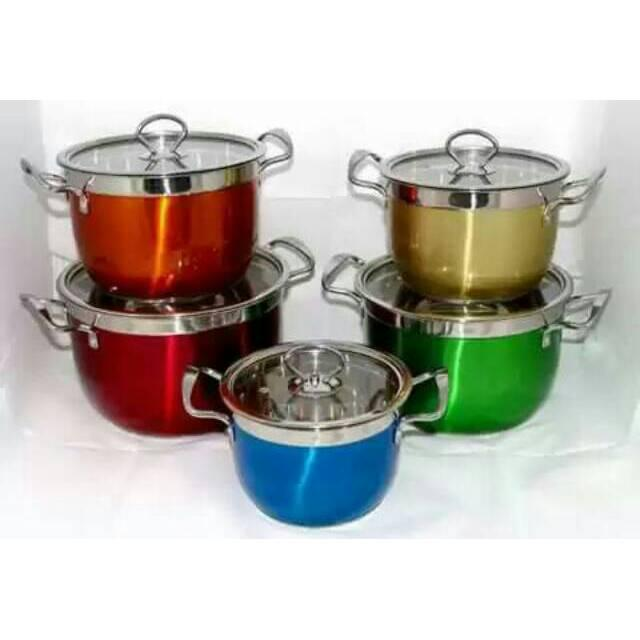 Jual Gsf American Style High Pots 5pcs Set Stainless Steel GSF Source · Panci set Magic