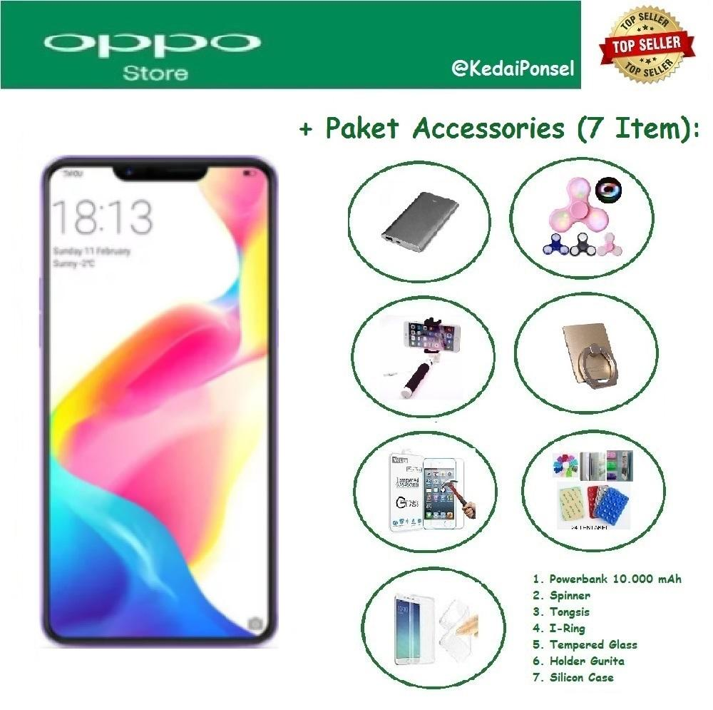 OPPO F7 Youth [4/64GB] + Paket Accessories (7 Item)