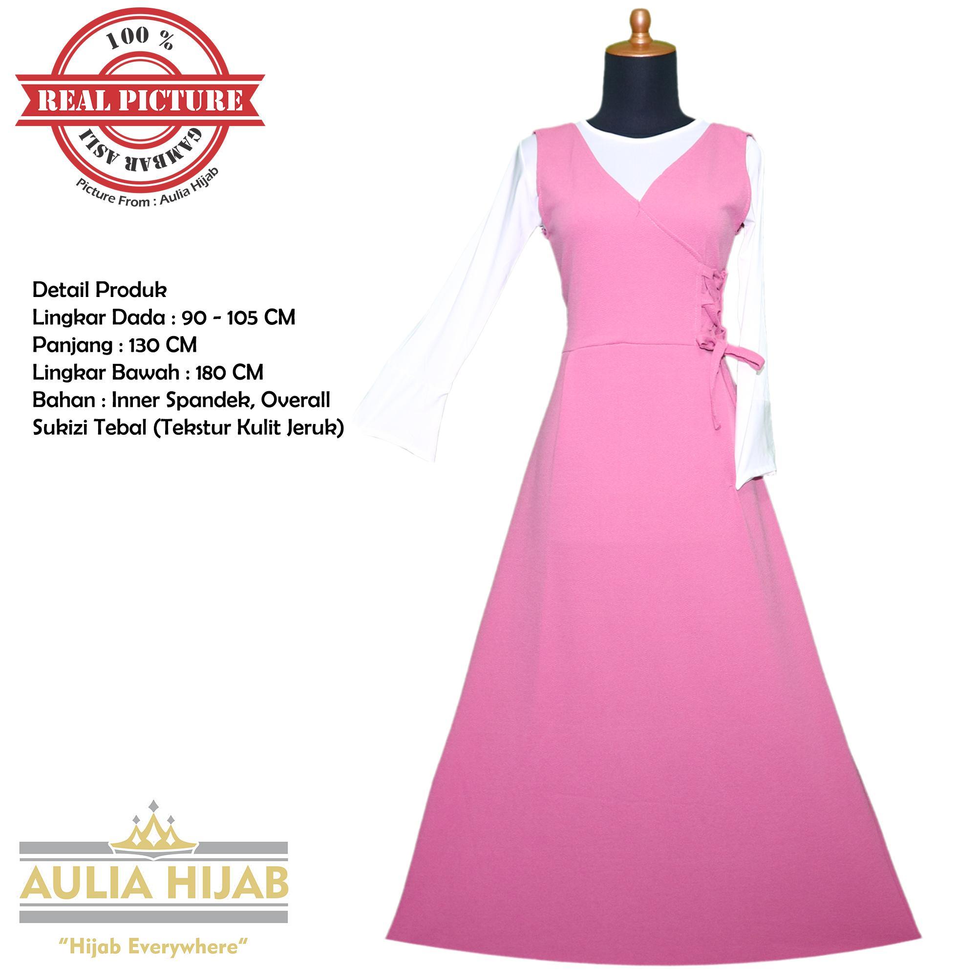 Daftar Harga Baju Kodok Untuk Hijab Terbaru November 2018 Cari Dan Aulia Gamis Overall Annie Bahan Sukizi Premium Murah Langsung Pesta
