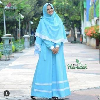 Pelacakan Harga Baju Muslim Original Gamis New Hamidah Syari Dress Wolfice  Muslim Panjang Dress Casual Wanita Pakaian Hijab Modern Baju Gamis Modis  Trendy ... 941e700352