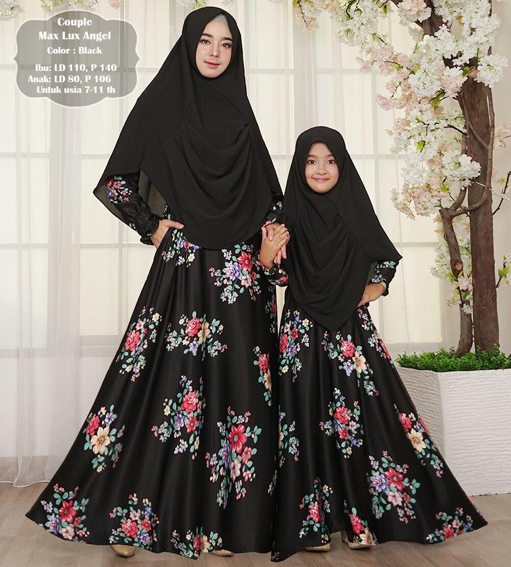 Humaira99 Gamis Syari Muslim Couple Ibu Anak Dress Hijab Muslimah Longdress Lebaran Atasan Wanita Busui Maxmara Angel