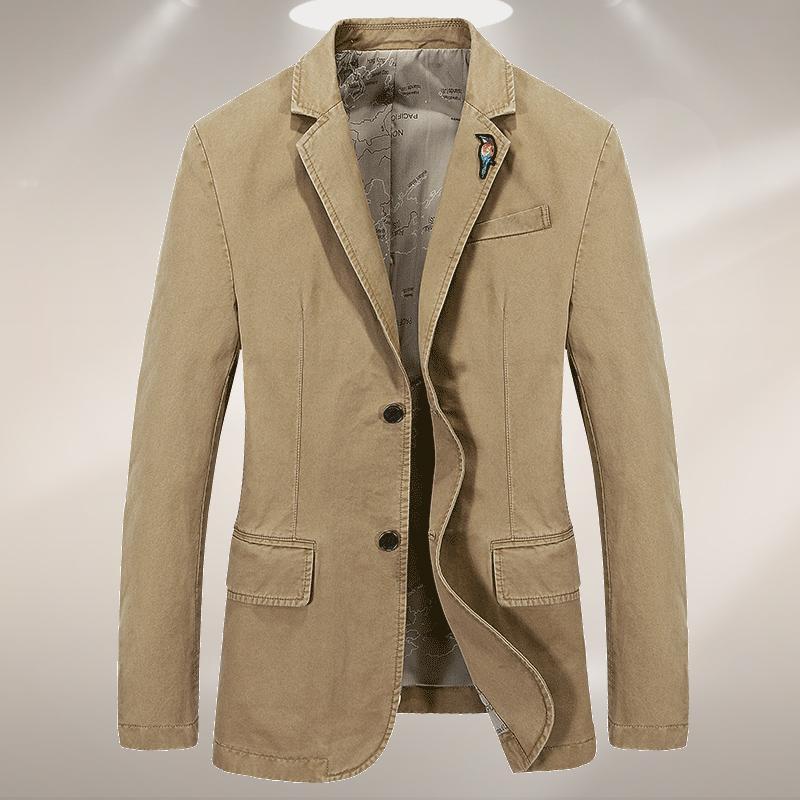 ZHAN DI JI Ji taman Musim Semi dan Musim Gugur Setelan jas kecil Pria Gaya  Korea 56cdeb6ed9