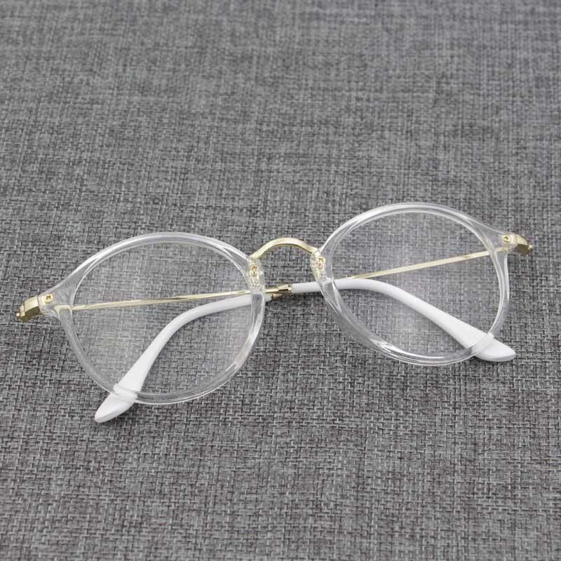 Bingkai kacamata wanita Gaya Korea pasang Retro Bundar wajah bulat besar  kepribadian transparan kaca polos modis b3efe30676