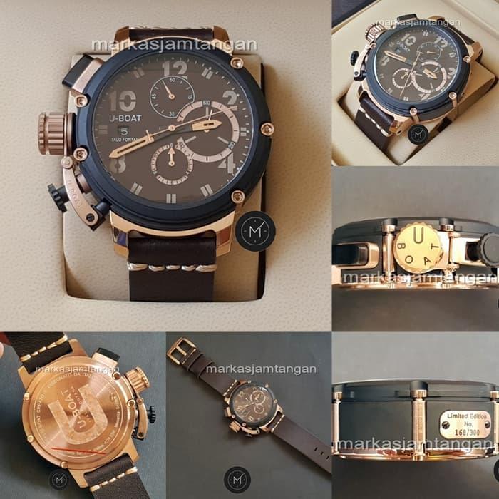 Jam Tangan Pria U-Boat Men Chimera UB-6495 Chronograph Leather