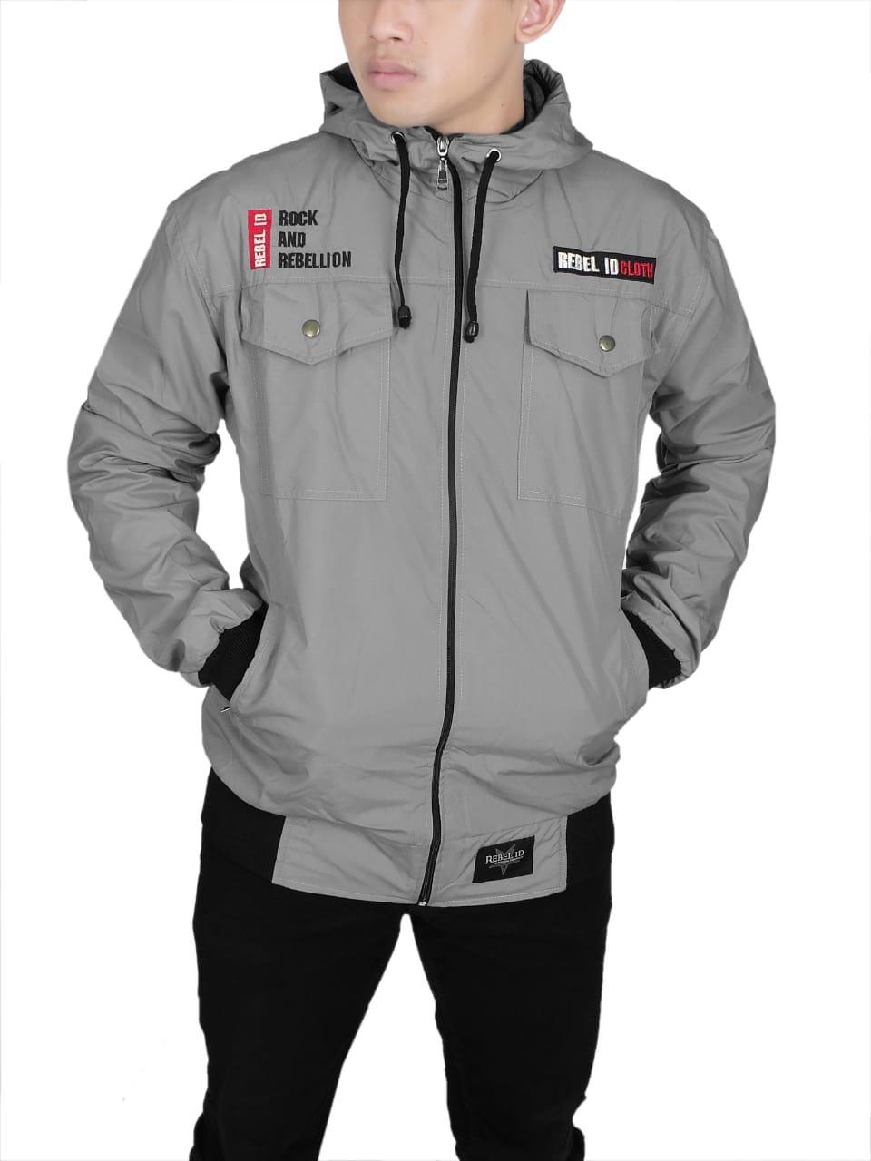 Jaket Hoodie Ziper Semi Parka   parka Waterproof Fashion Pria e9122debd3