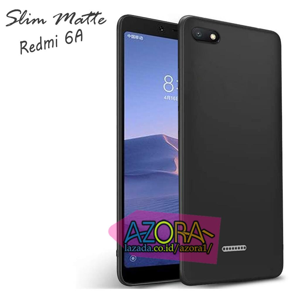 Case Slim Black Matte Xiaomi Redmi 6A 2018 Baby Skin Softcase Ultra Thin Jelly Silikon Babyskin