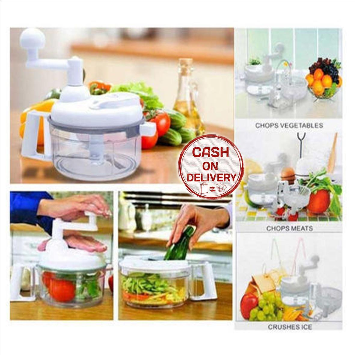 Kado Unik-- Swift Chopper Manual Food Processor / Alat Penggiling Sayuran / Blender Sayur Tanpa Listrik / Alat Penghalus Sayuran / Alat Potong Serbaguna / Swift Chopper Multipurpose / Penggiling Buah Sayur Murah
