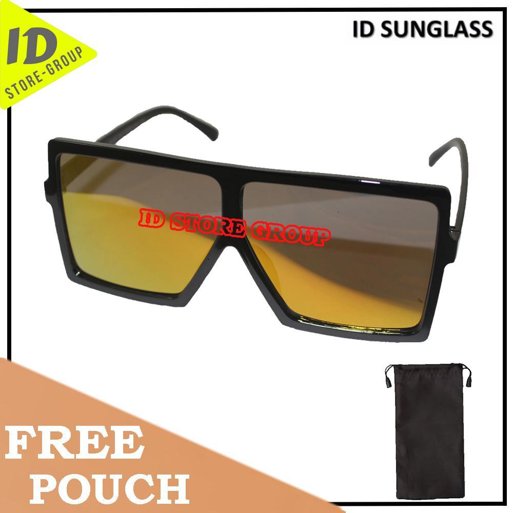 ID Sunglass - Wayfar D-Frame Pria Wanita Frame - Hitam Lensa - Merah  SUN 1070-05