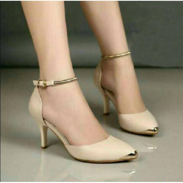 Sepatuafa - High Heels Vanilla Saga Og03 Cream