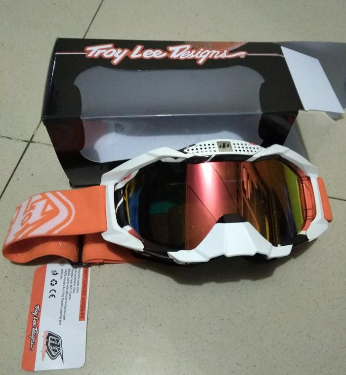 Kacamata Cross  Tld Warna Orange Lensa Pelangi - ready stock