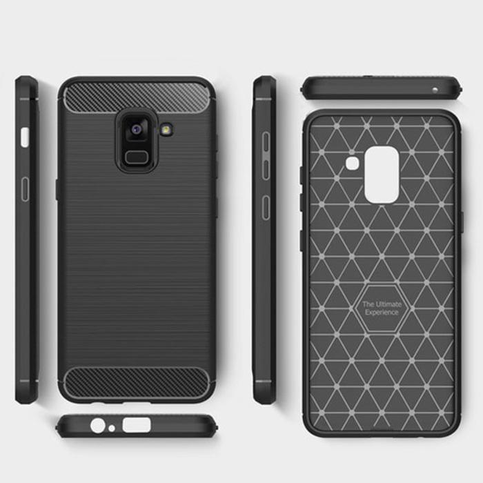 Rp 49.900. TUNEDESIGN Slim Armor Brushed Samsung Galaxy A6 - Black/Hitam TPU Jelly Silicone Softcase Backcase Backcover Shockproof ...