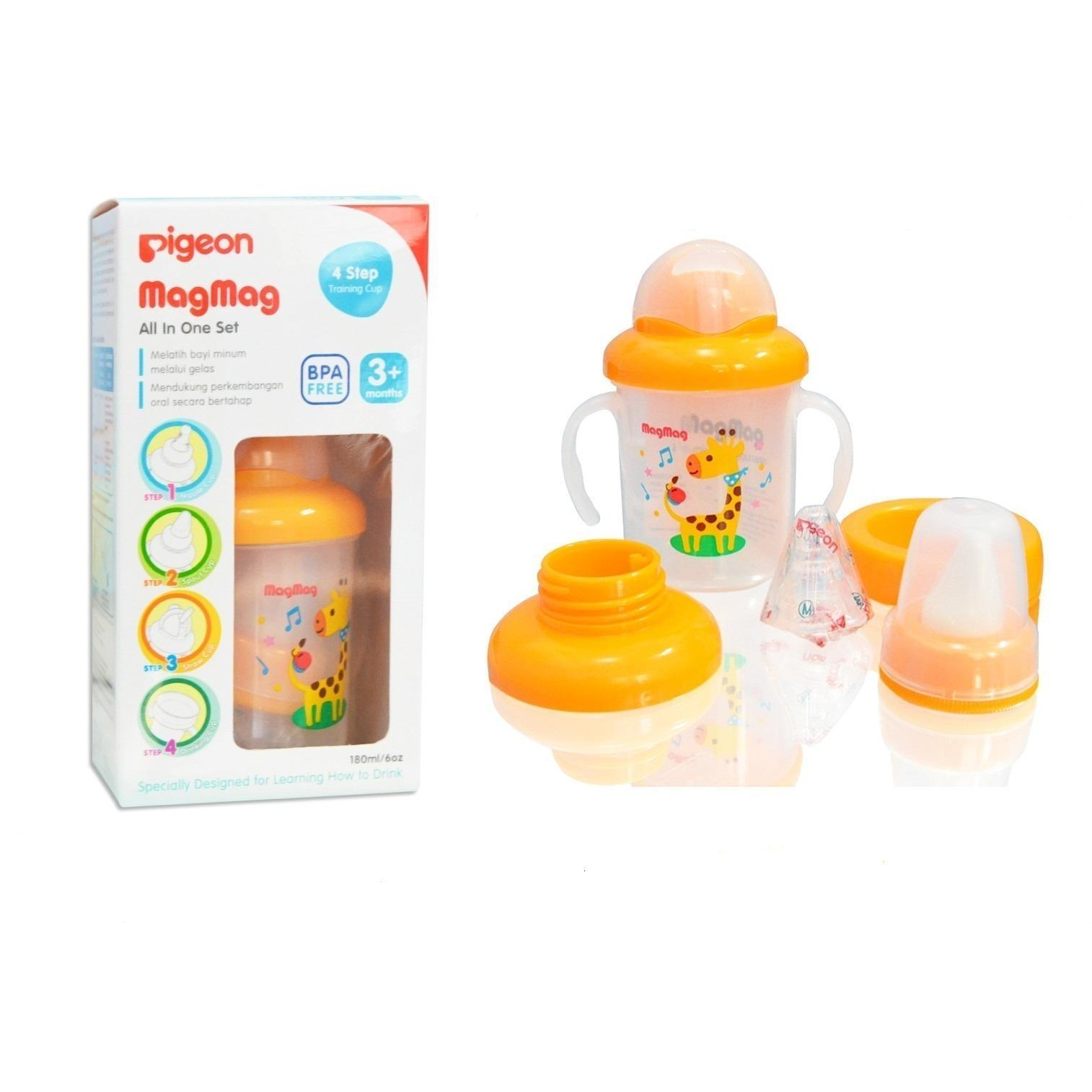 Cangkir Bayi Terlengkap Termurah Training Cup With Straw And Handle Ninio Botol Minum Pigeon Mag All In One Set New