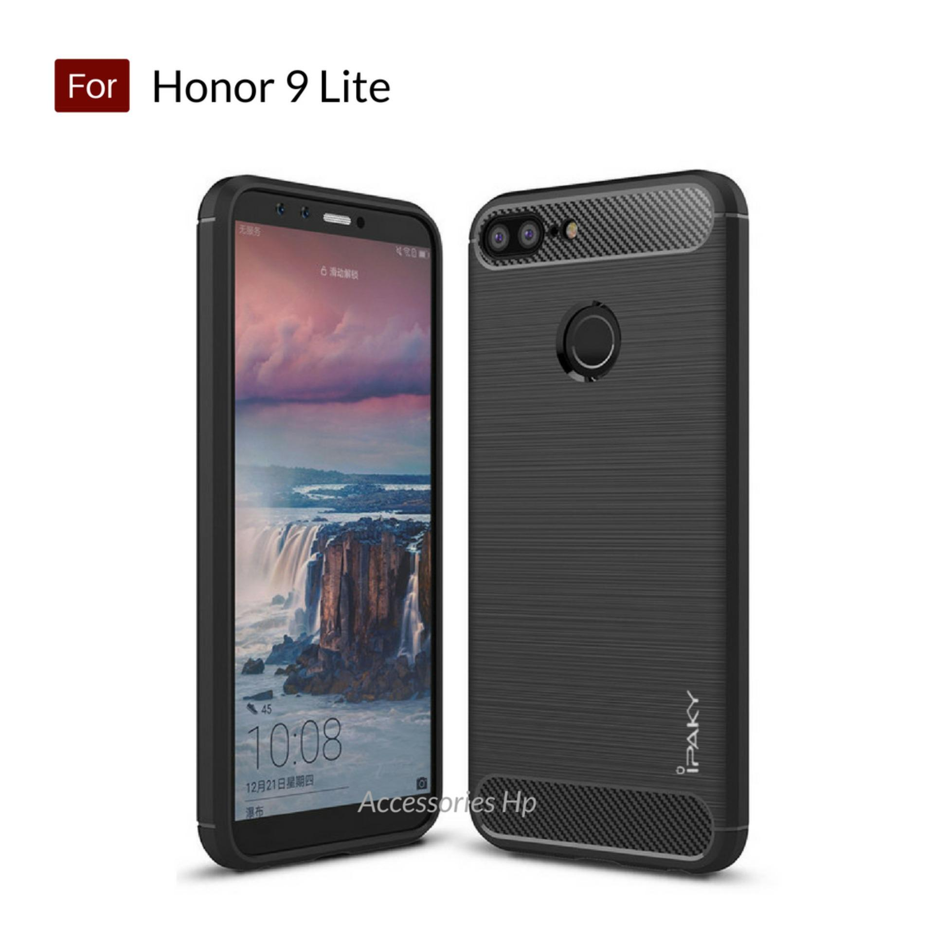 Accessories HP Premium Quality Carbon Shockproof Hybrid Case For Huawei Honor 9 Lite - Black