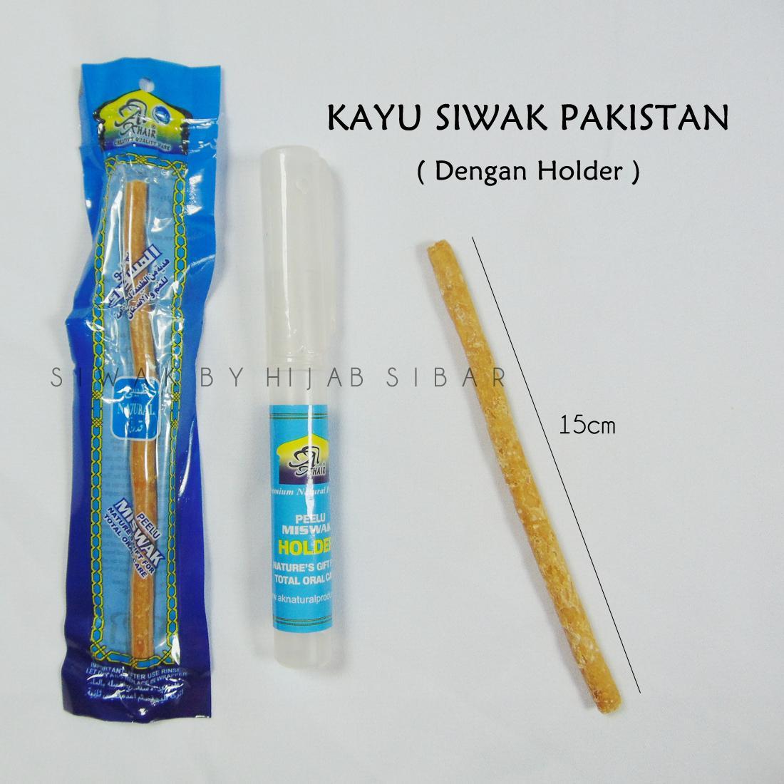 Kayu Siwak Miswak Al-Khair Pakistan Original Dengan Holder / By Hijab Sibar By Hijab Sibar.