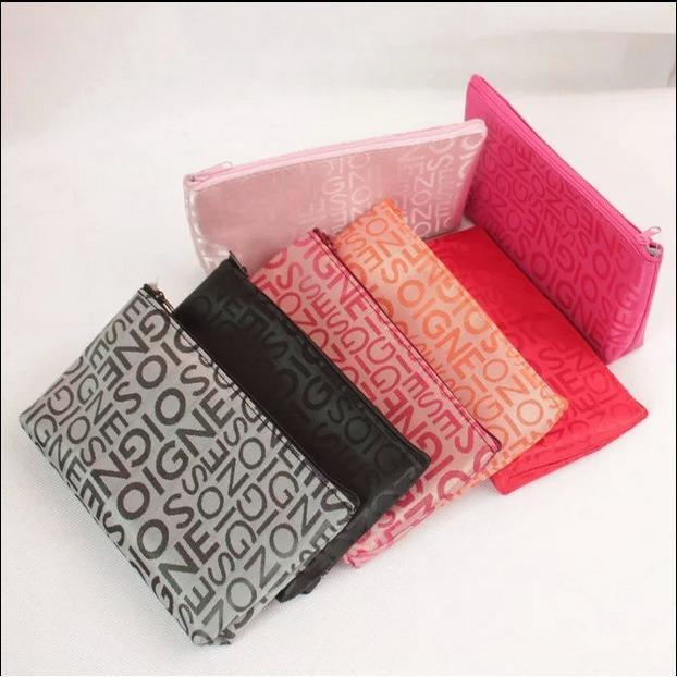 JUAL Tas Kosmetik Korea Motif Abjad / Korean Cosmetic Bag