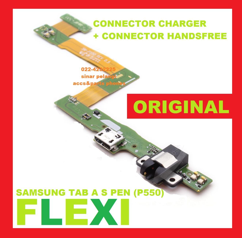 FLEXI FLEXIBEL FLEXIBLE SAMSUNG TAB A S PEN P550 CON CONNECTOR CHARGE CHARGER CHARGING TC HANDSFREE EARPHONE