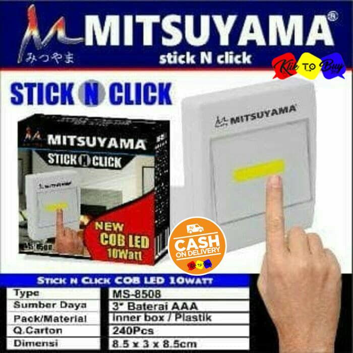 KTB Stick N Click Lampu Tektok MS-8508 / Lampu Emergency / New COB LED 10wat