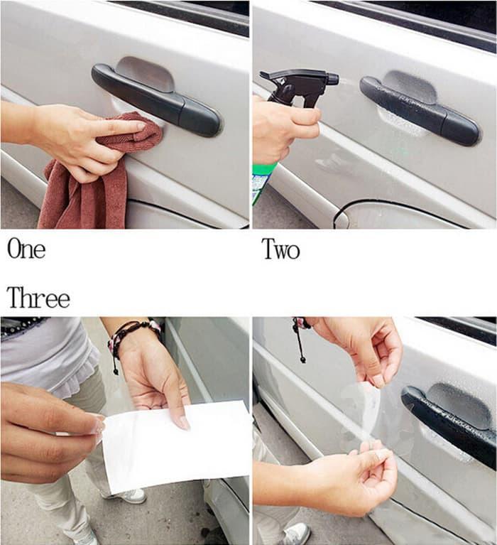 Promo Stiker Handle Mobil Anti Gores Gagang Pintu Mobil Car Door Protector original