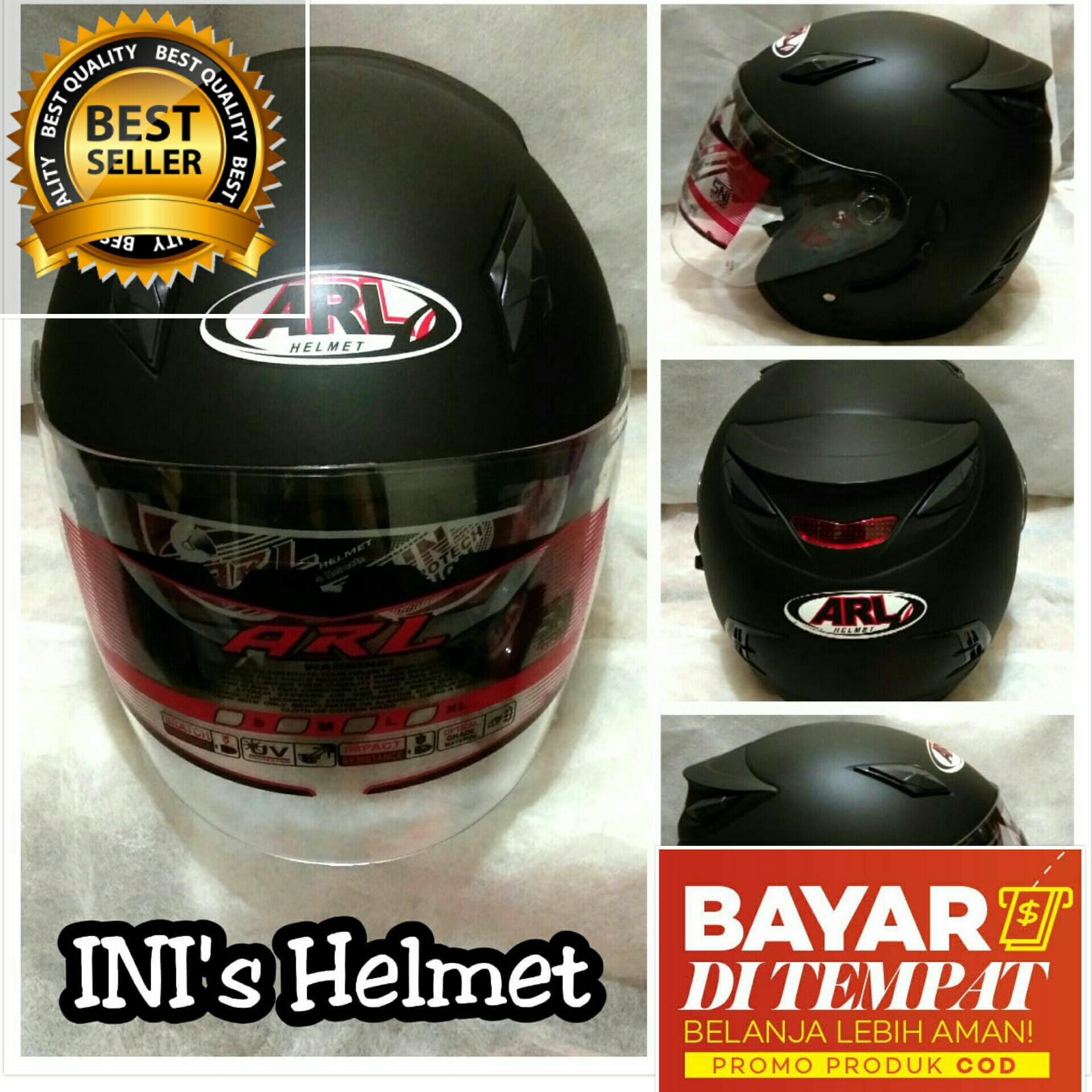 Helm Half Face SNI Helmet polos Hitam Doff Dop keren ARL Helmet Centro Metro not ink centro or kyt dj maru