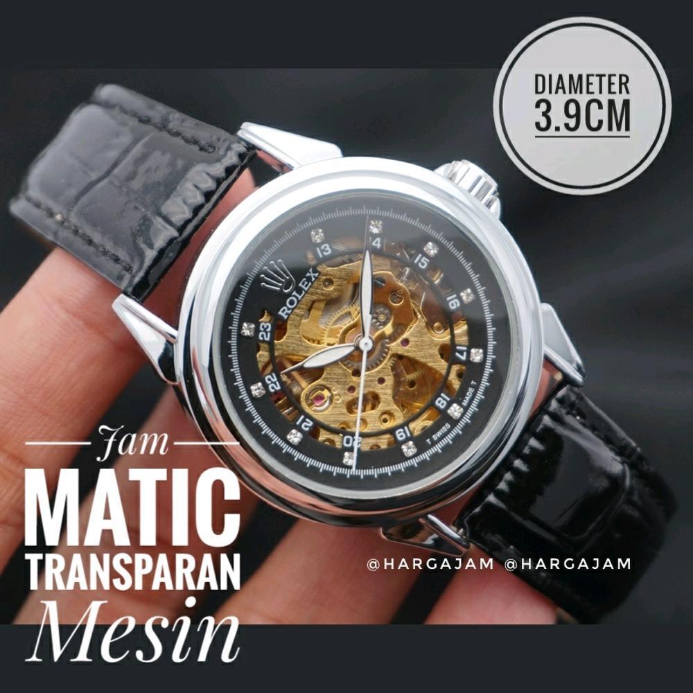 Jam Tangan Automatic Rolex Matic Skeleton Diamond By Hargajam Matic Diameter Kecil