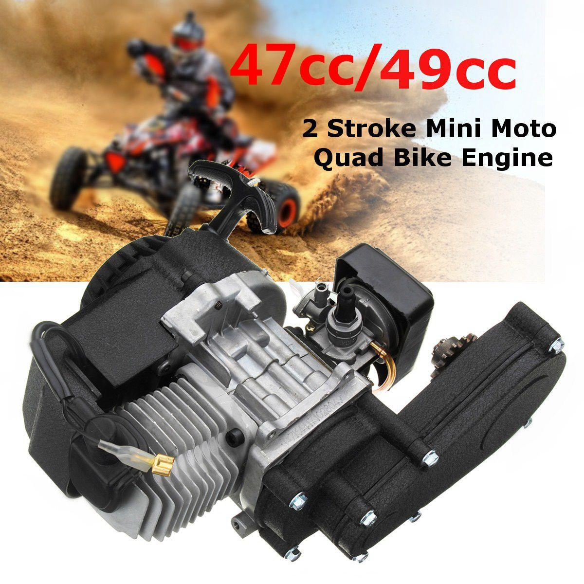 【Flash deal】49CC MINI DIRT BIKE COMPLETE ENGINE WITH TRANSFER BOX RED PULL START