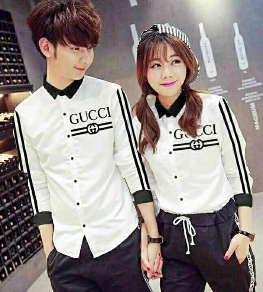 legiONshop - Kemeja Pasangan kemeja couple baju couple atasan baju pasangan GUCLIST (harga sudah 2