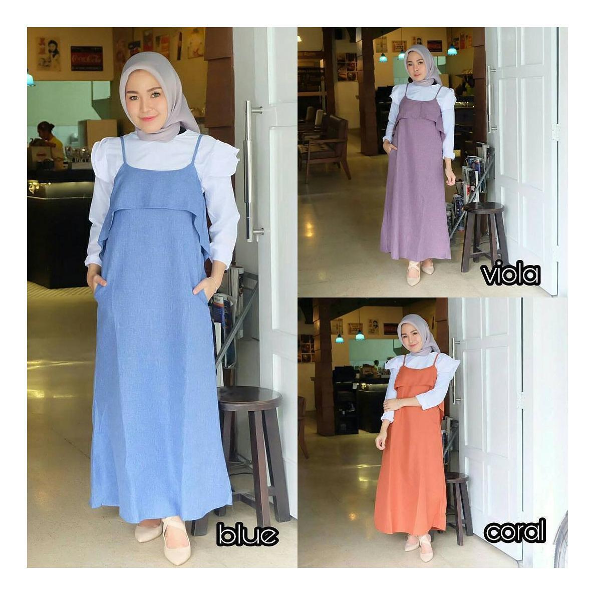 "Setelan& Jumpsuit ""ML PATRICIA MAXY SET""  Baju Panjang Muslim Hijab Modern Pakaian Wanita Trand Terbaru Murah Fashionable"