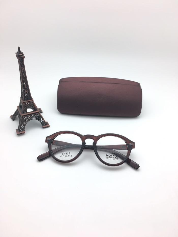 Frame Kacamata Minus Moscot Miltzen TR573 Coklat