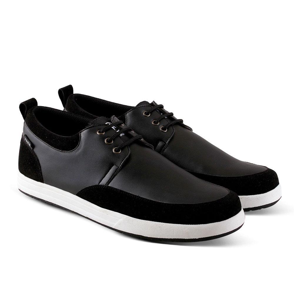Sepatu Sneakers 528 Sepatu Kets Kasual Pria untuk jalan, santai, kuliah, sekolah ,kerja - Hitam