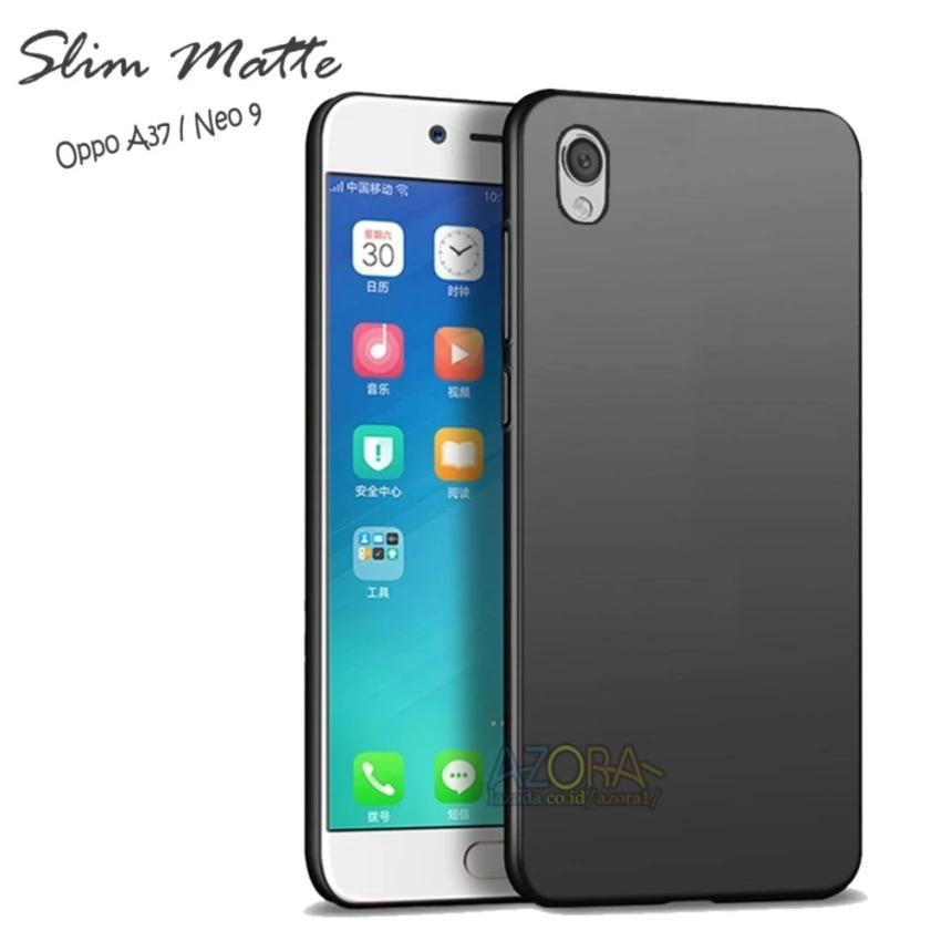 Uncle Star - Case Slim Black Matte Oppo Neo 9 / A37 Baby Skin Softcase Ultra Thin Jelly Silikon Babyskin