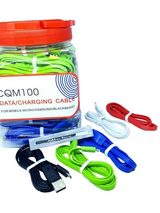 Kabel data Compatible For Micro Usb Qtop samsung,oppo,xiaomi,lenovo,asus,bb dll 100cm