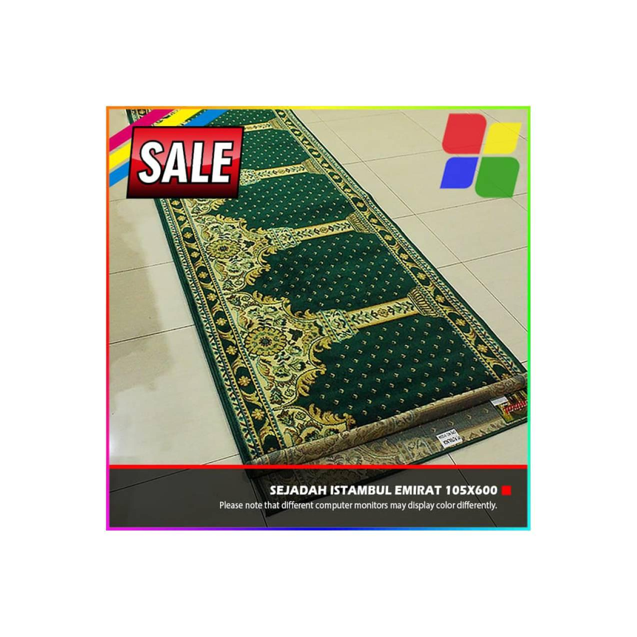 PROMO Sajadah Karpet Msjid Mushola Import Istambul Emirat 105x600cm