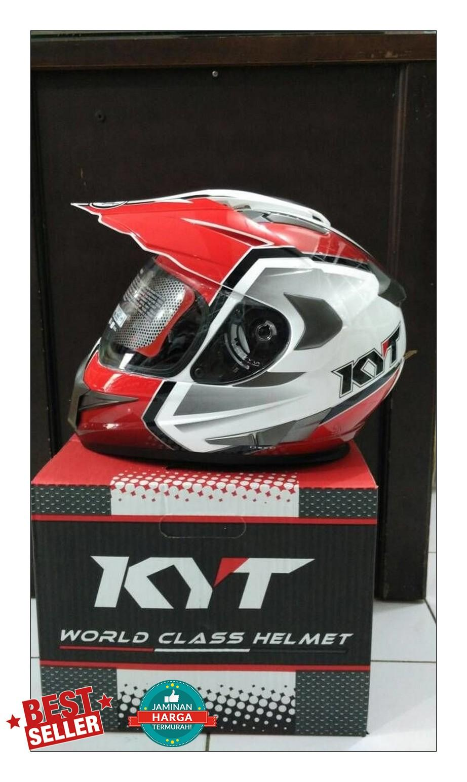 Helm KYT Enduro Motif Glossy Supermoto Original Full Face