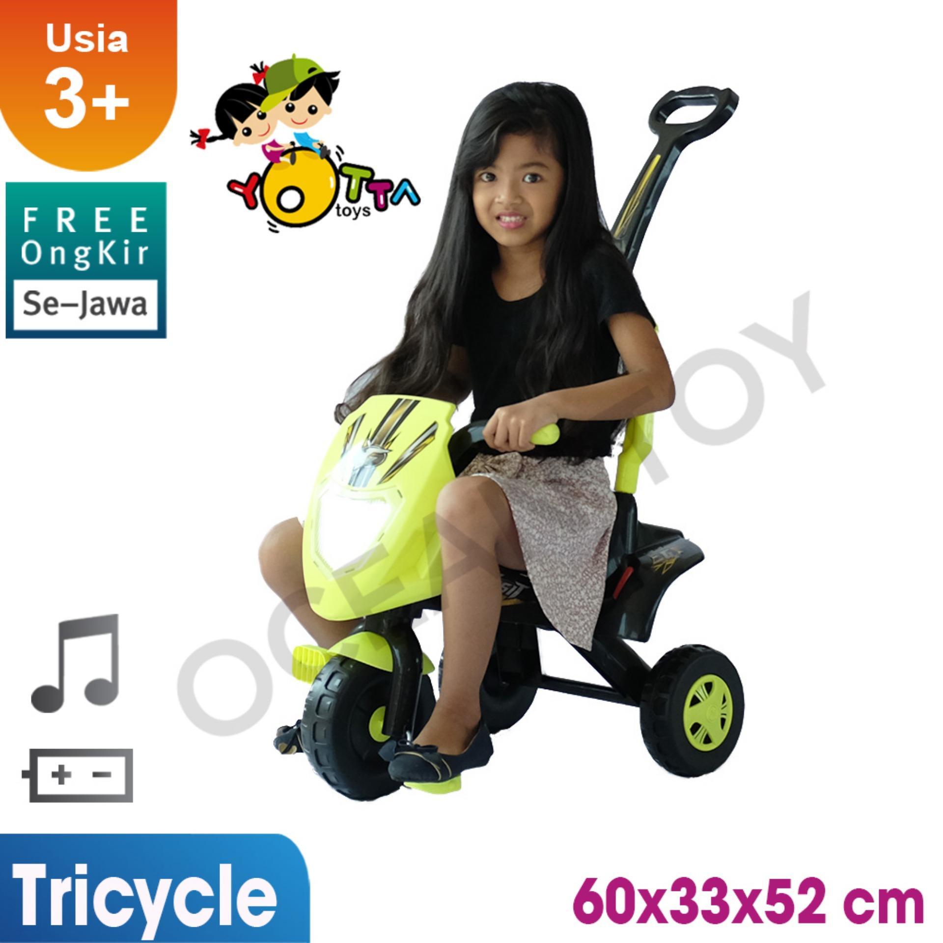100% Free Ongkir Khusus Pulau Jawa Ocean Toy Yotta Ride On Sepeda Gesit Mainan Anak - Yellow