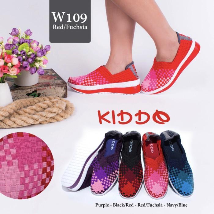Promo Sepatu Rajut Anyaman Lulia Cynthia Kiddo Wedges 109 Gratis Ongkir