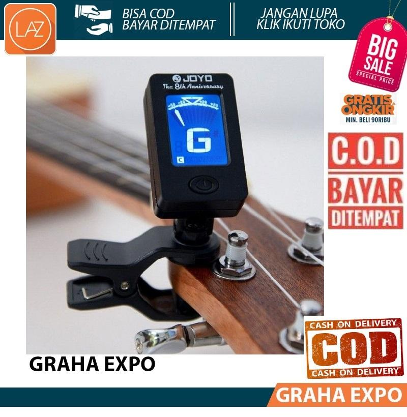 Joyo Digital Tuner LCD Gitar Rotatable 360 Degree Guitar Bisa Diputar Bass Violin Laz COD Graha Expo