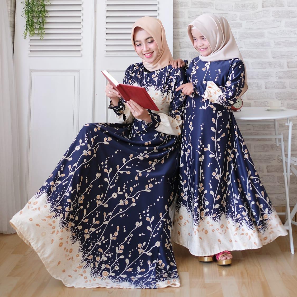 yuna-syari ibu anak syar'i busui couple syari maxmara balodior hijab muslimah ibu anak baju gamis pasangan dalila