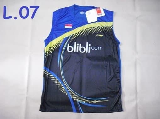 HARGA DISKON!!! Baju Badminton / Bulutangkis Singlet Lining L.05 BliBli Blue Black - x4uV7H