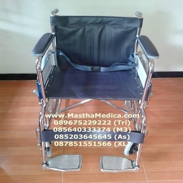 Kursi Roda Standar Rumah Sakit Kuat Murah + Rem Roda Di Surabaya .
