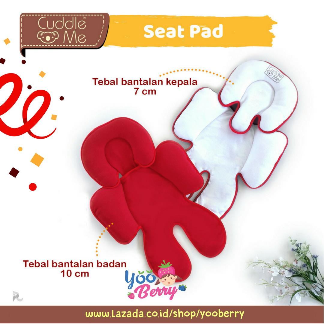 Cuddle Me Seatpad Alas Stroller Kereta Bayi White Red YooBerry