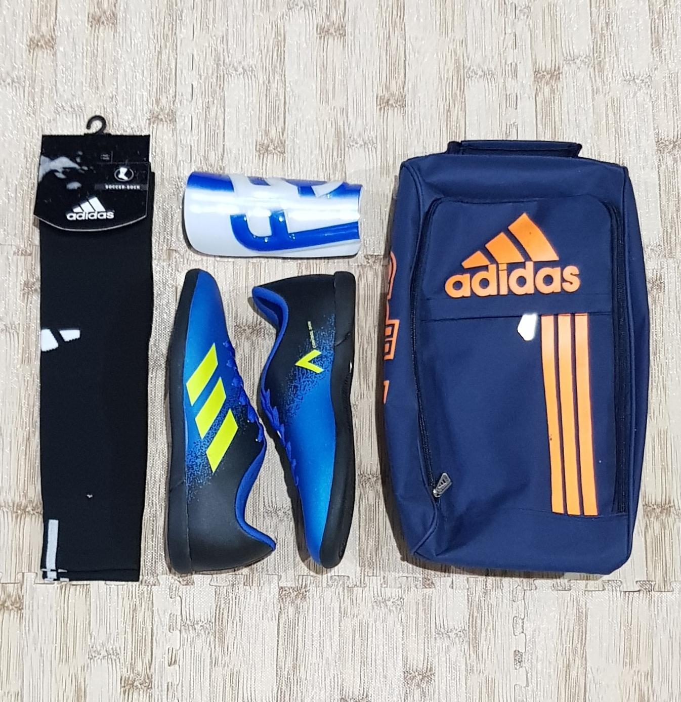Buy Sell Cheapest Sepatu Futsal Dewasa Best Quality Product Deals Paket Komplit Adidas X Size 39 43 Lengkap Dengan Tas Deker Kaoskaki Murah