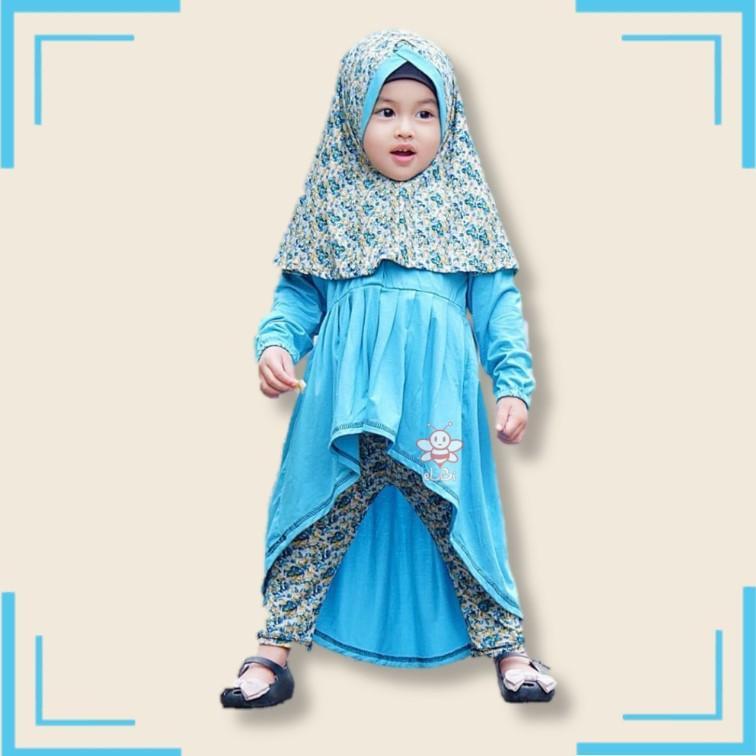 eLBi - Baju Muslim Anak Perempuan / Baju Muslim Balita Perempuan / Gamis Anak Perempuan / Farah Series