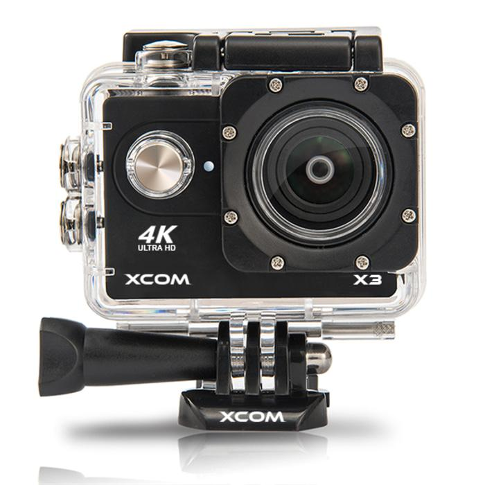 Onix XCOM X3 Action Camera 4K HD 16MP HITAM Carton Box + battery 900 m Terlaris di Lazada