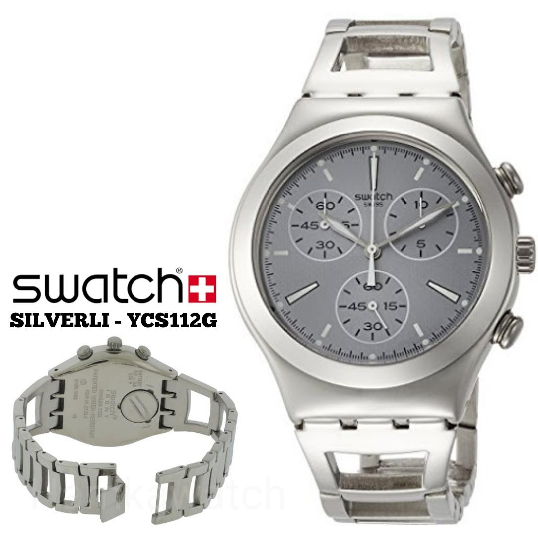 Jual Beli Jam Tangan Swatch Irony Original Ycs112g Pria Yvs431 Destination Roma