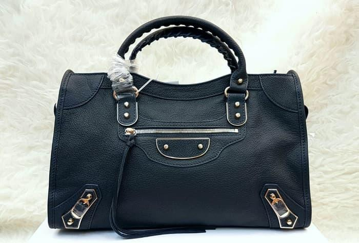 Balenciaga Edge 38cm Grained Leather Hand Bag / Tas Wanita Branded