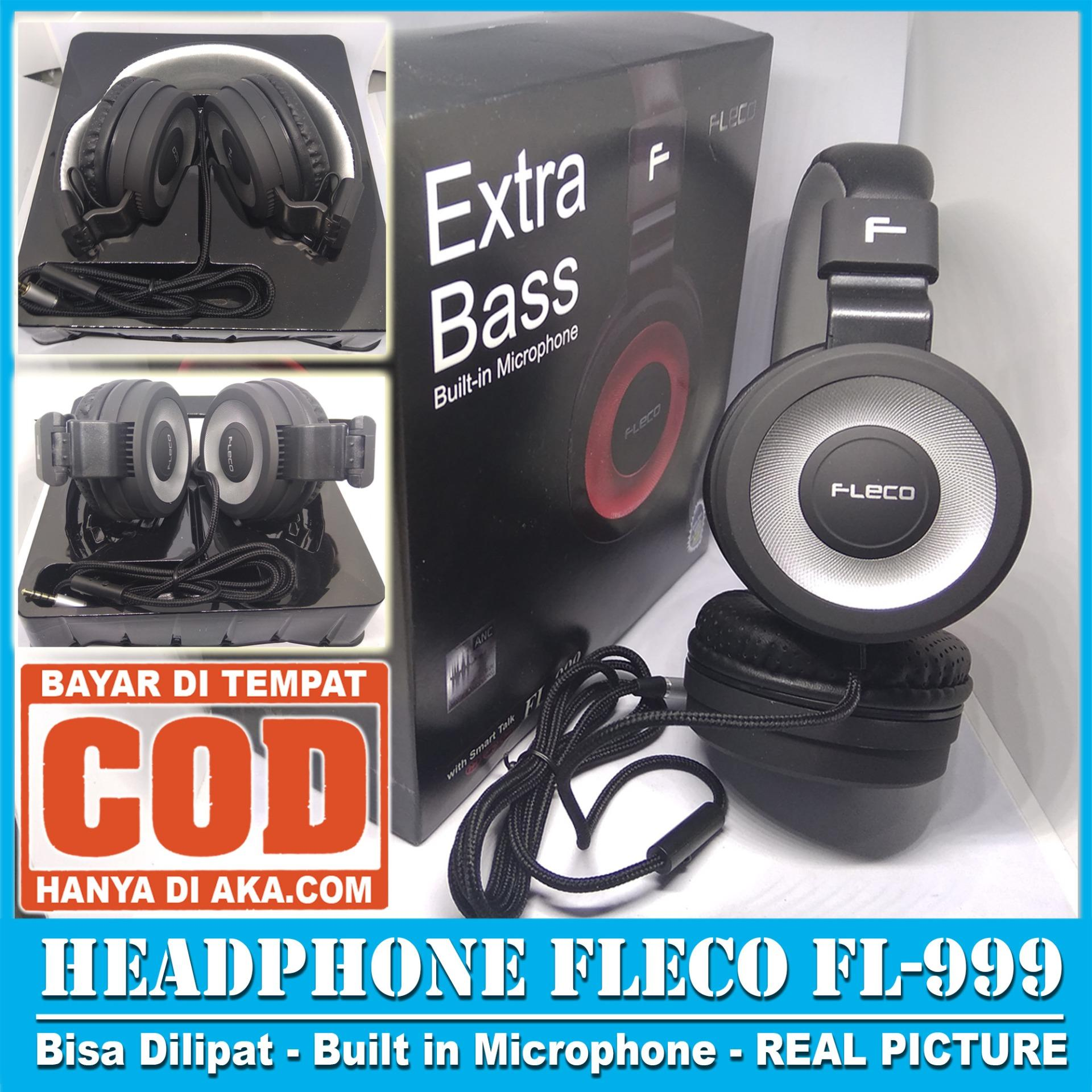 Fleco Original Super Bass Stereo Headset Handsfree Headphone Withmic Earphones Sumo Er 1 Sport Metal Music With Microphone Er1 Dijamin Nendang New Ready Stok Fl 999 Extra Hifi Built In Earphone Real