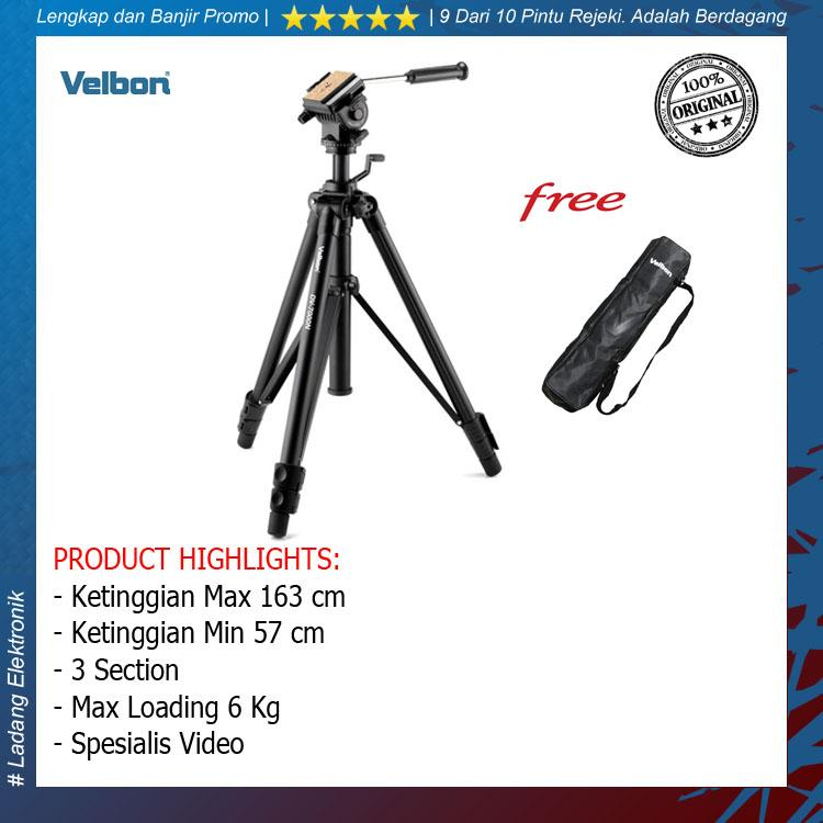 Velbon DV-7000 Video Tripod with Fluid Head - Original