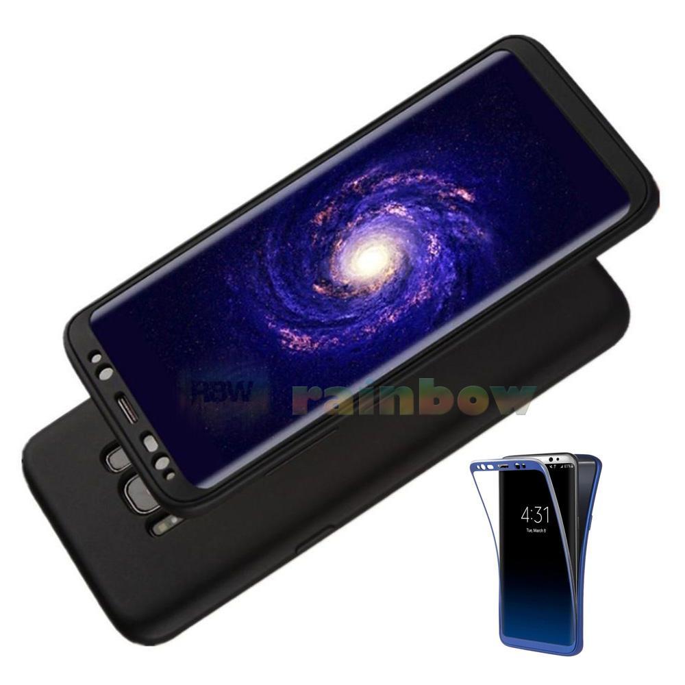 Rainbow Soft Case 360 Samsung Galaxy S8+ Black (2in1) Baby Skin Softcase Samsung S8 Plus / Case Fullbody Depan Belakang Samsung S8 Plus / Silikon Samsung ...