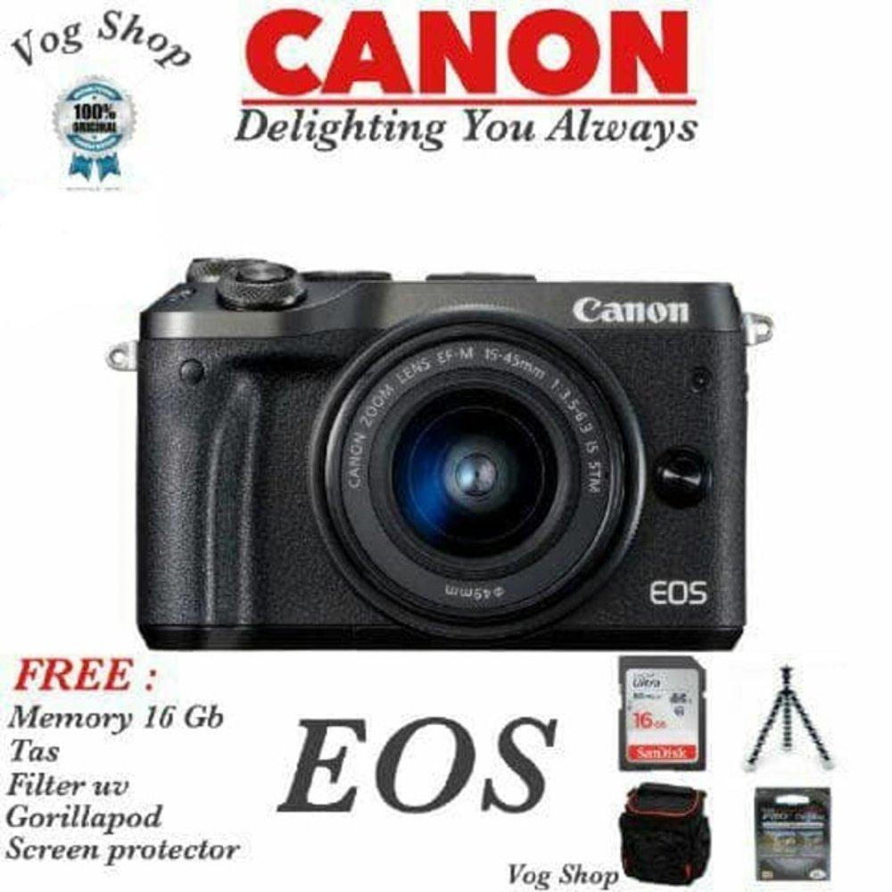 Kamera Mirrorless Canon EOS M6 KIT 15-45 IS STM