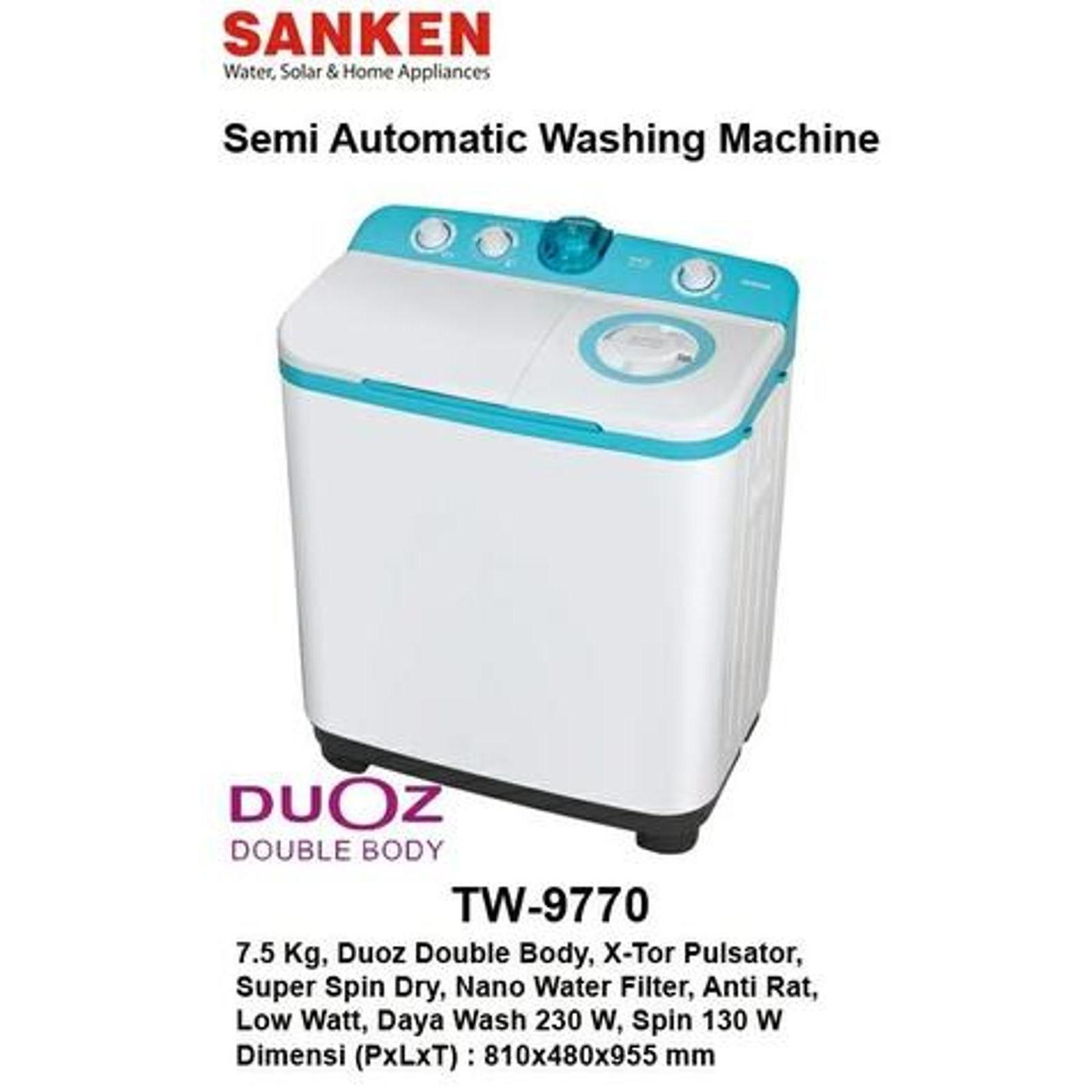 Lg Mesin Cuci Twin Tub P850r Abu Khusus Jadetabek Daftar Harga 1 Tabung Top Loading Wfl100tc 10kg Putih Sanken Tw9770mr